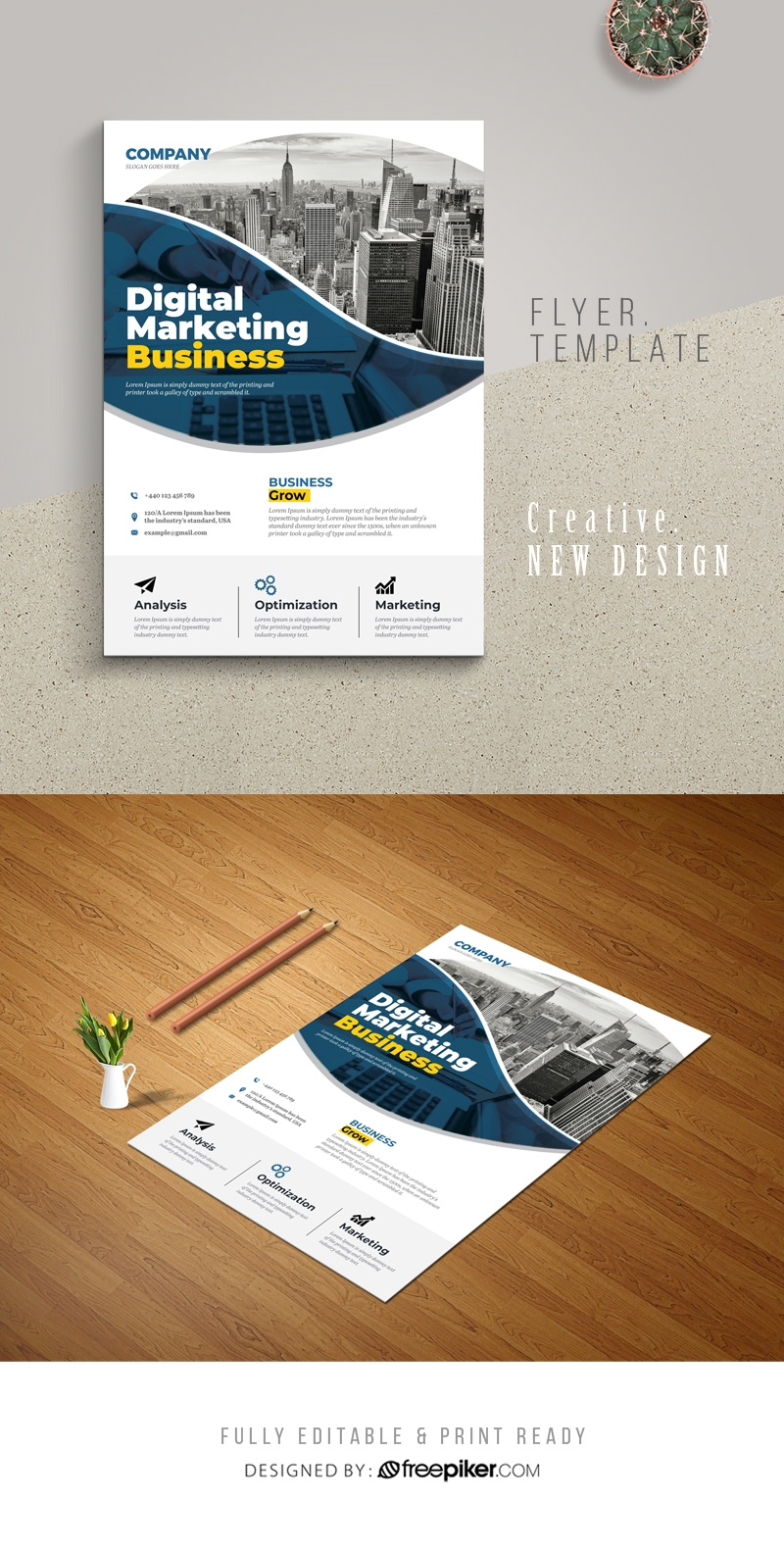 Creative Marketing  Business Flyer Template