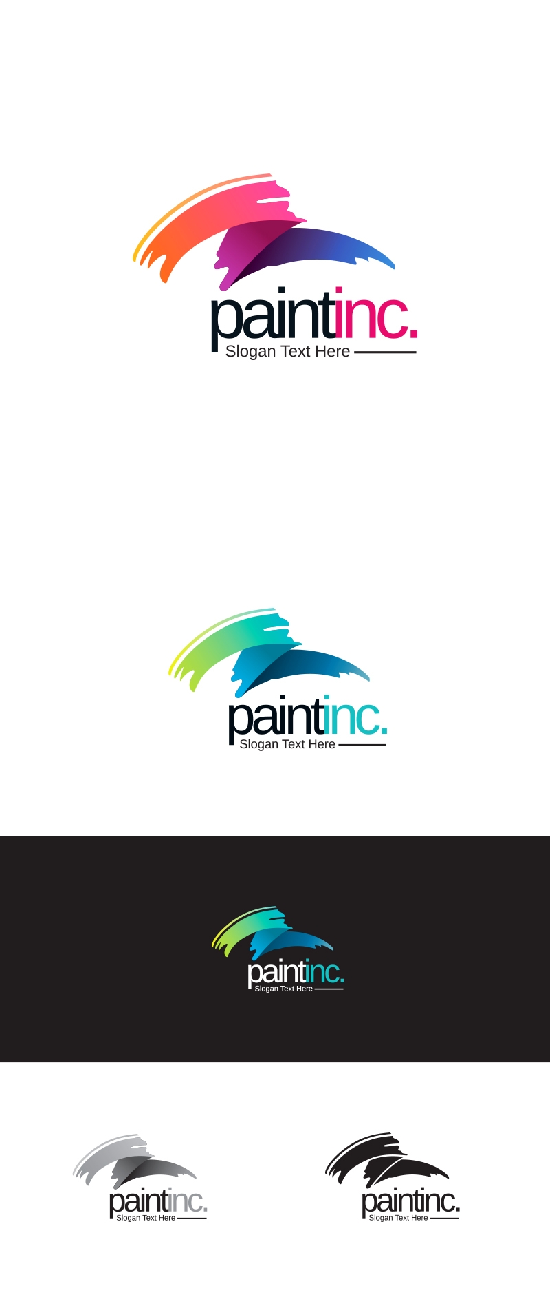 Creative Paint Brush Logo