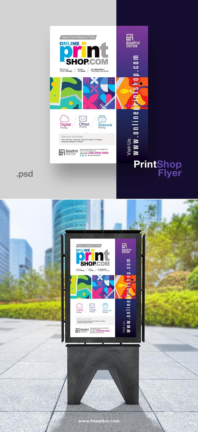 Creative Print Shop Flyer