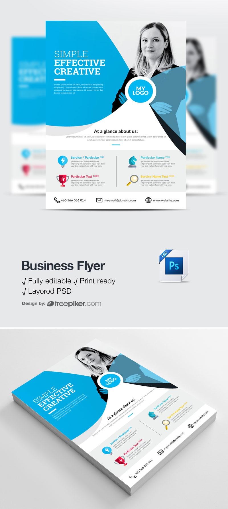 Cyan Accent Business Flyer