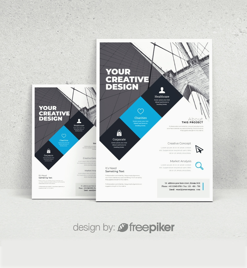 Cyan Accent Simple Flyer