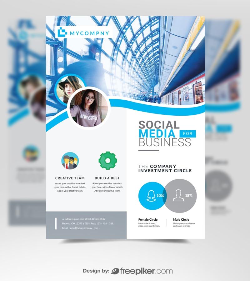 Cyan Business Flyer Template