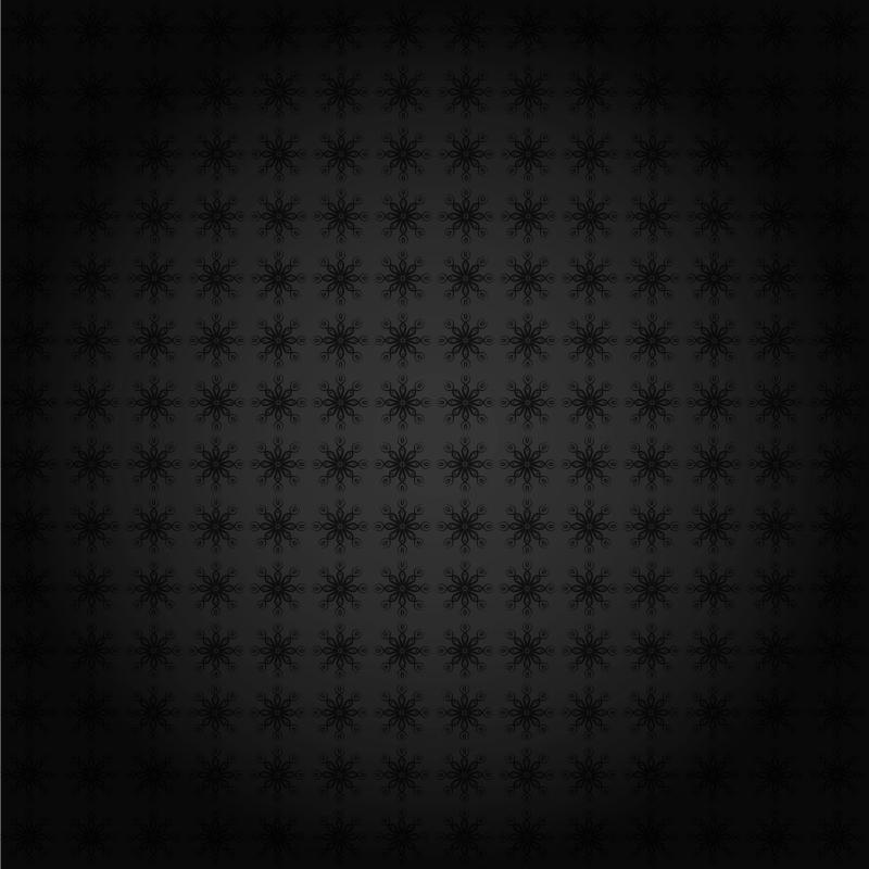 Dark Gray Floral Pattern Background