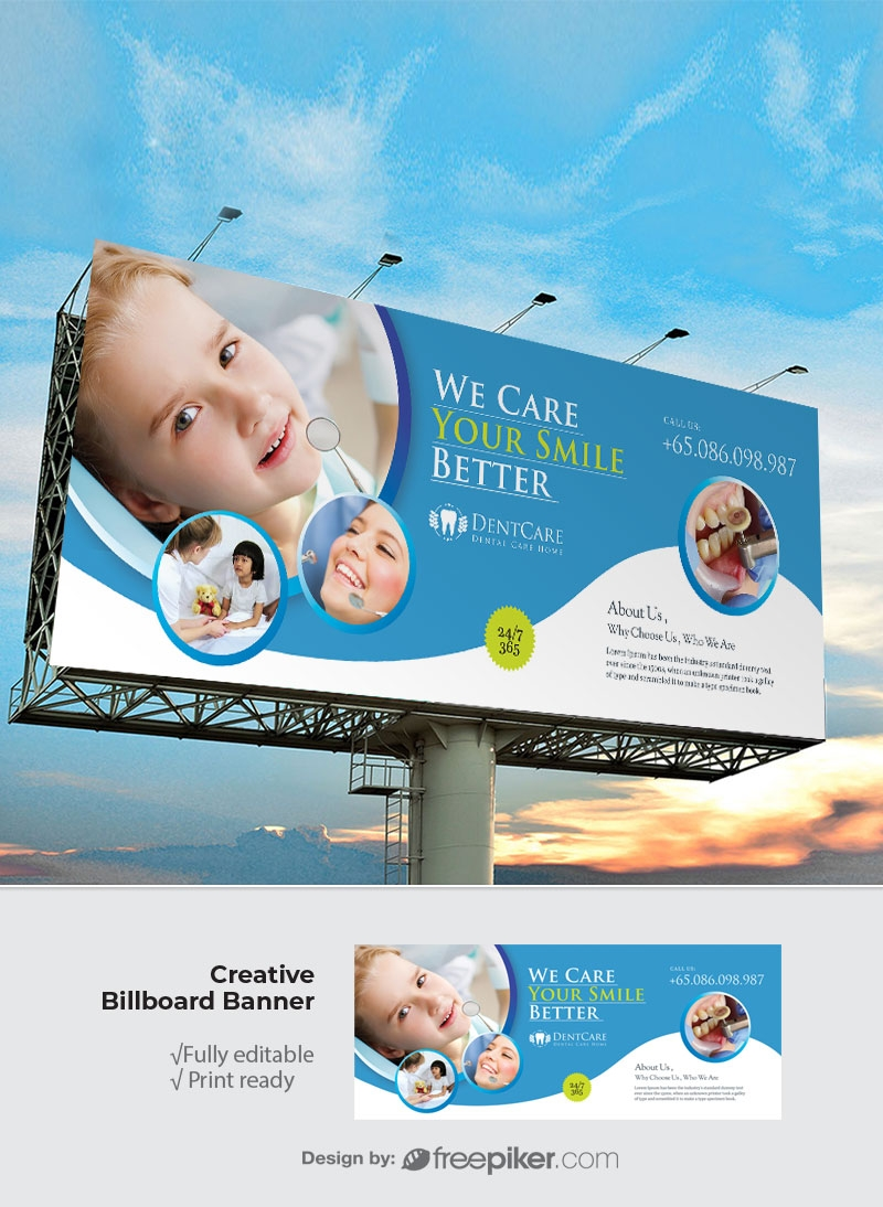 Dental Care Billboard Sinage
