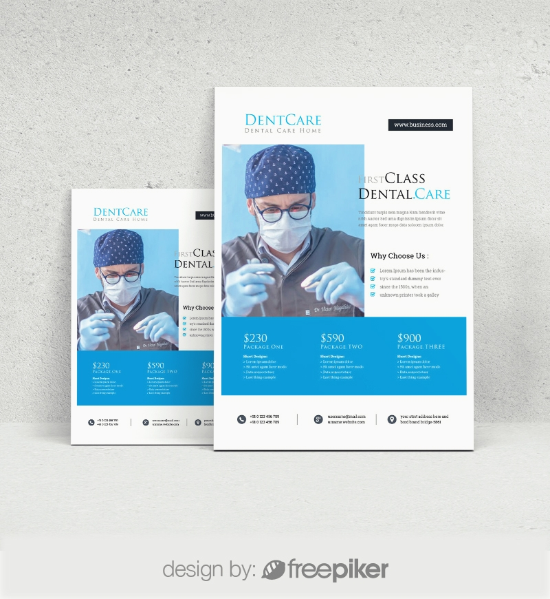 Dental Care Clinic Dentist Service Flyer