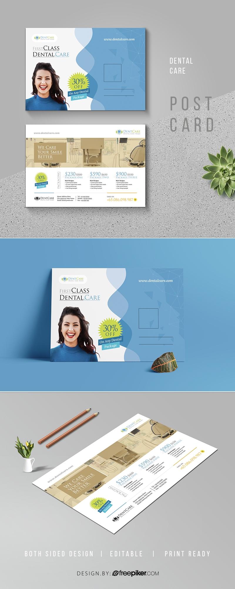 Dental Care Clinic Dentist Service Postcard