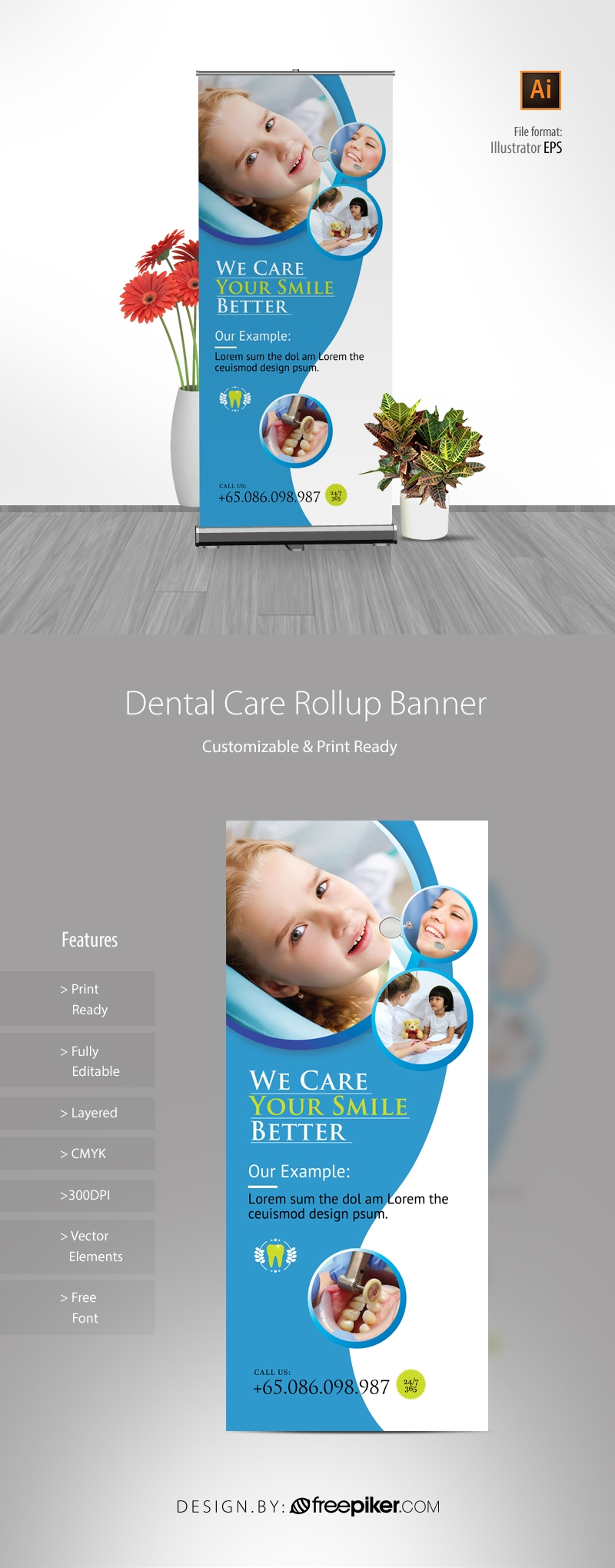 Dental Care Rollup Banner