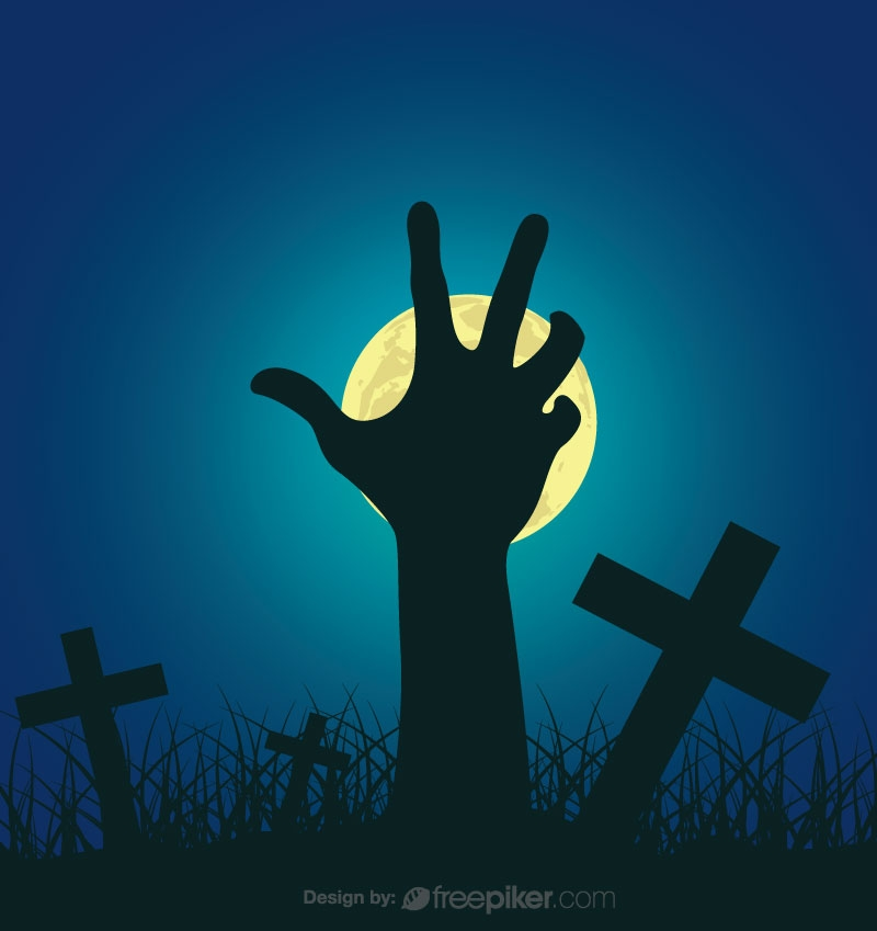 Devil Cross Halloween Conceptual Background