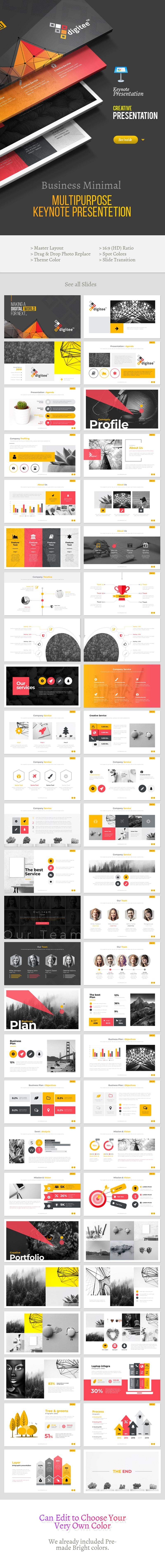 Digitee Multipurpose Keynote Presentation Template