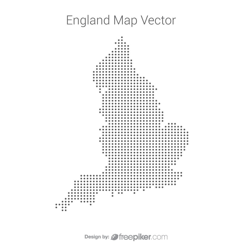 England Map By Dots Vector Design