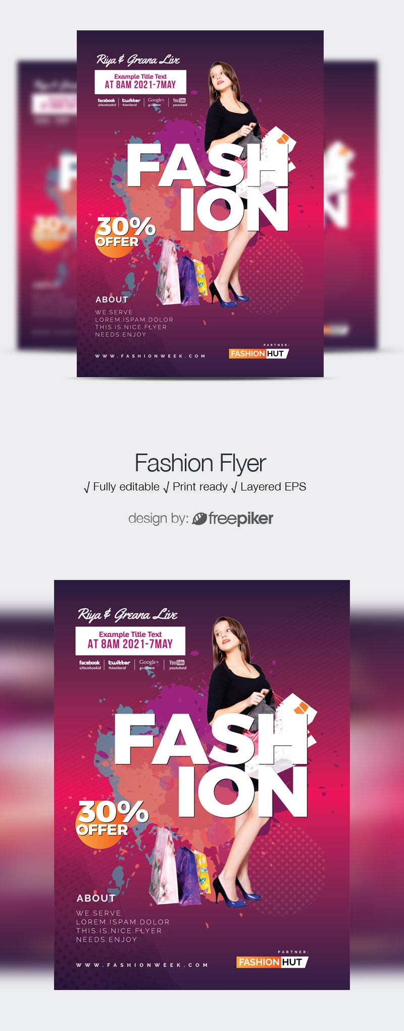 Fashion New Collection Flyer Template