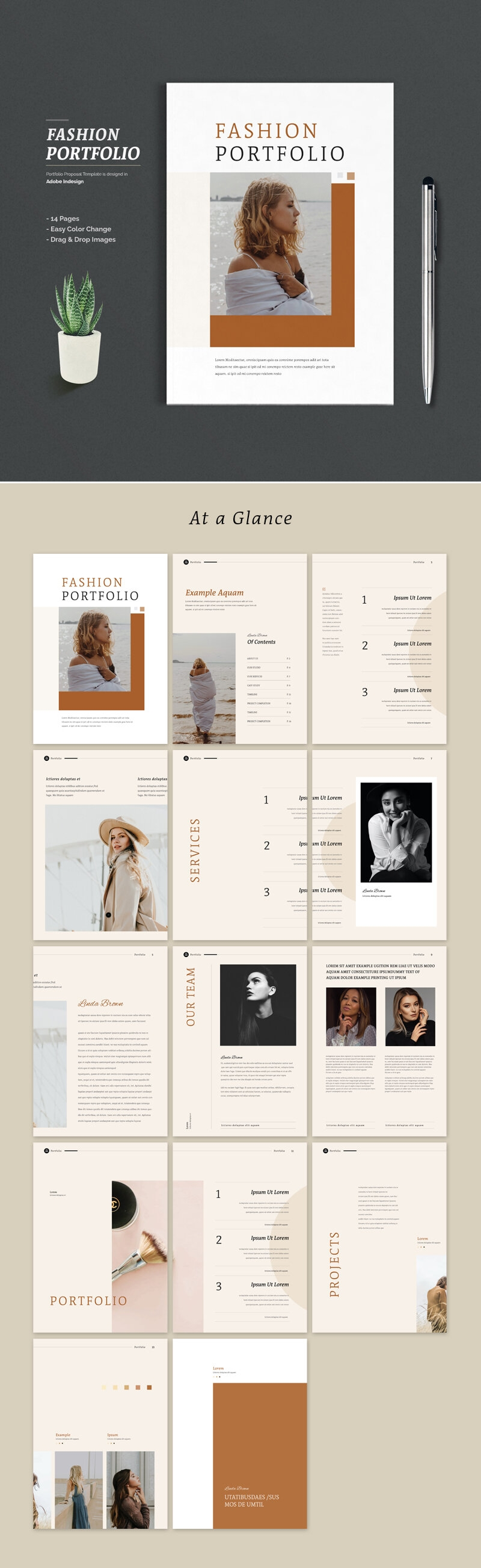 Fashion Portfolio Brochure Template