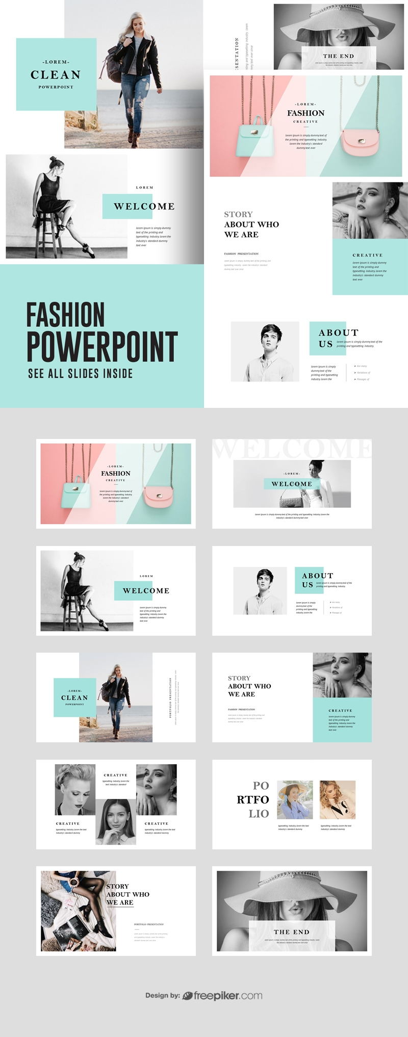 Fashion PowerPoint Presentation Template