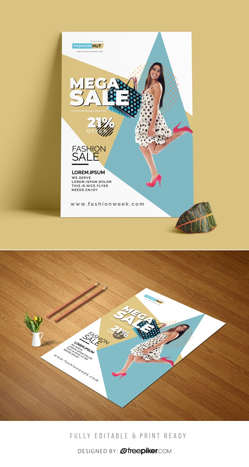 Fashion Sale Business Flyer Template