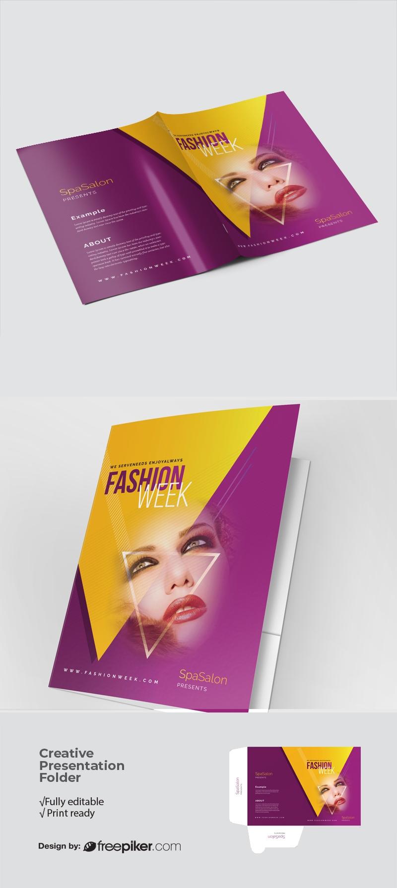 Fashion Week Presentation Folder With Triangle