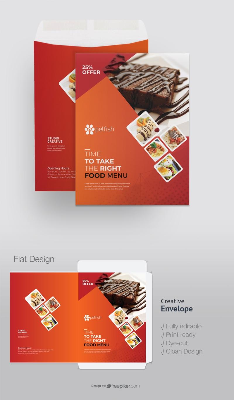 Fast Food Catalog Envelope