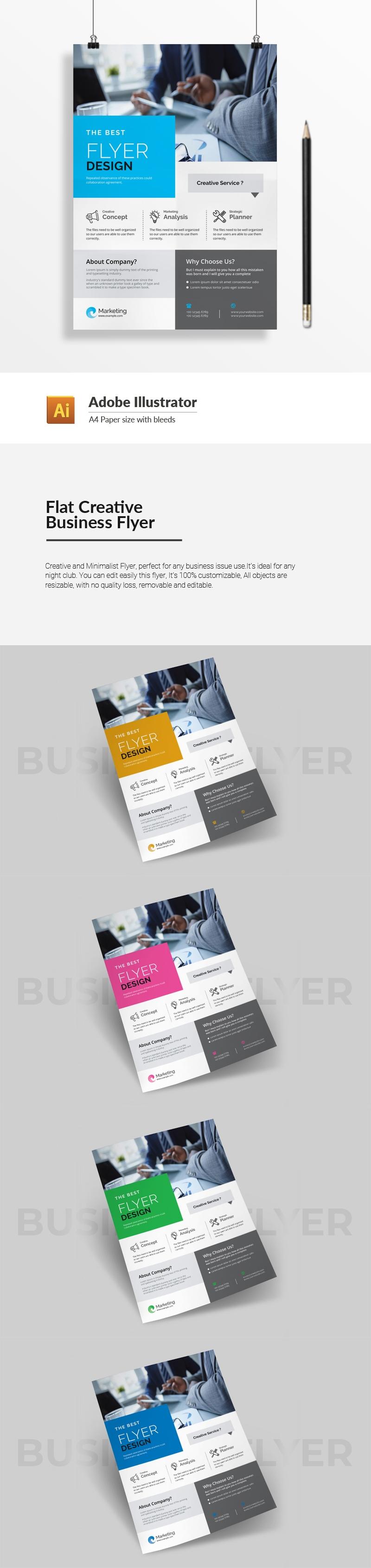 Flat Creative Business Flyer