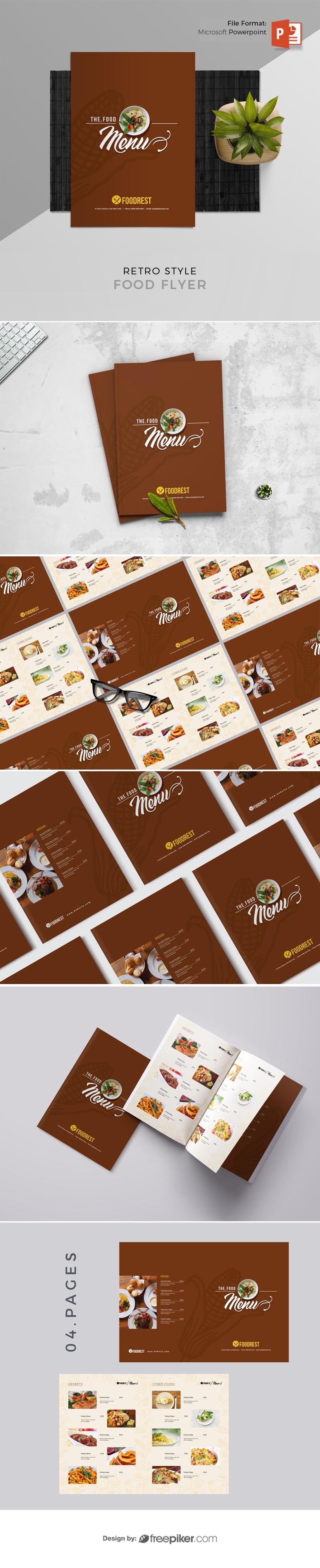 Food Menu Booklet with Price List Photo Gallery