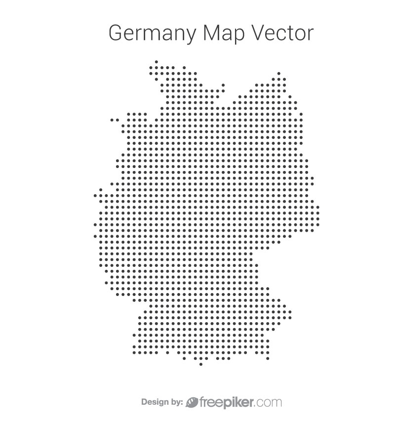 Germany Map By Dots Vector Design