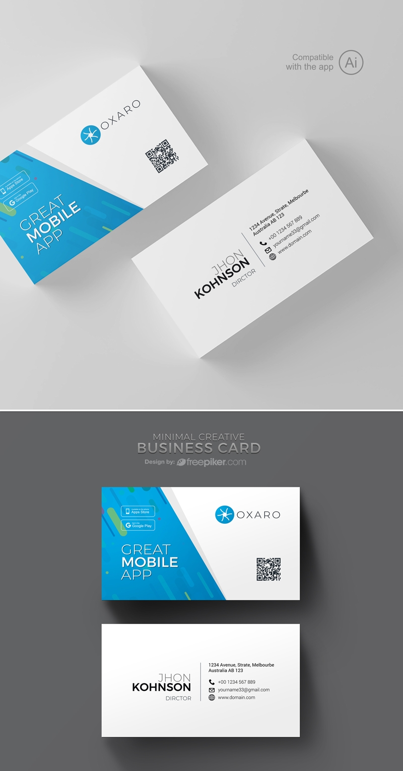 Great MobileApp Business Card Template