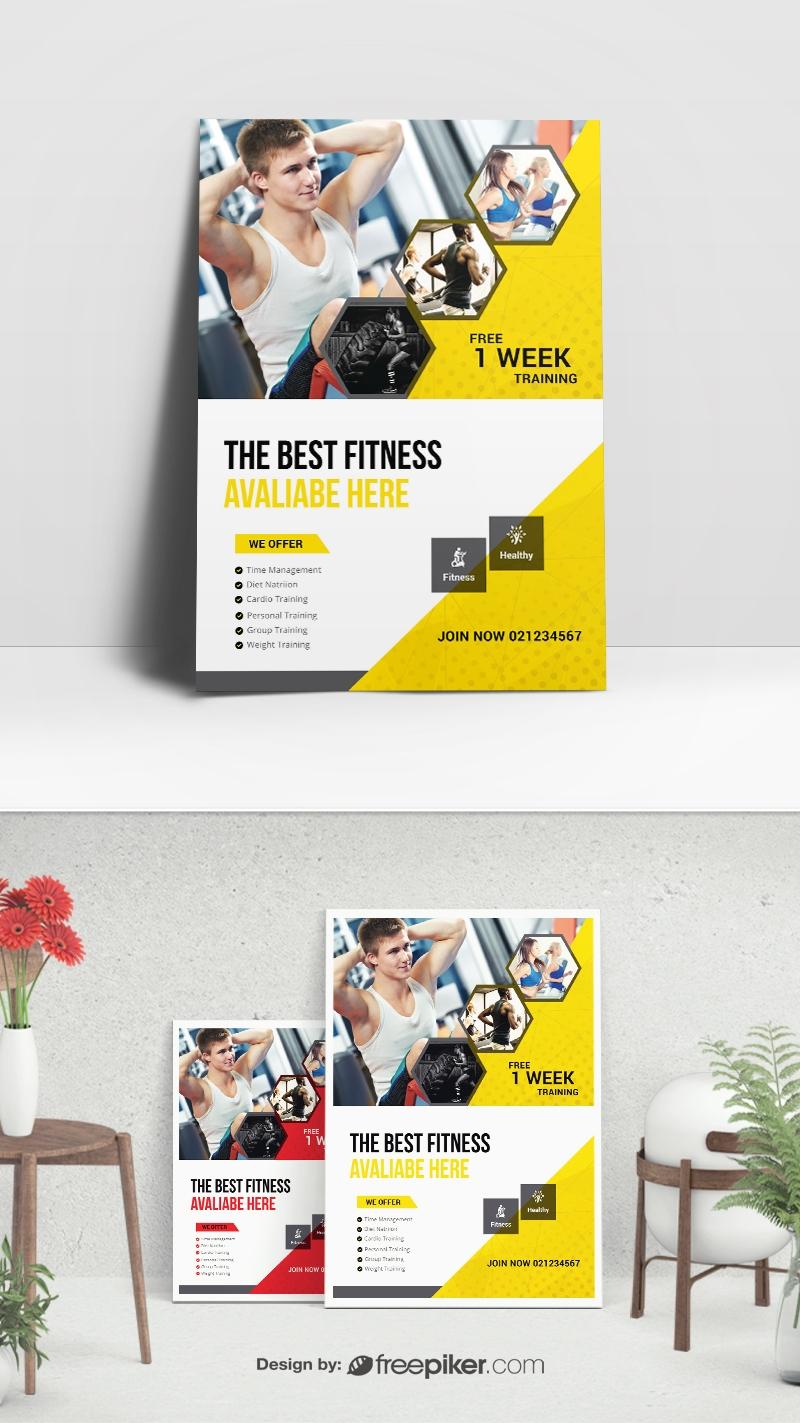 Freepiker | gym & fitness flyer