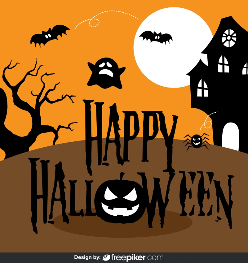Happy Halloween Illustration Vector