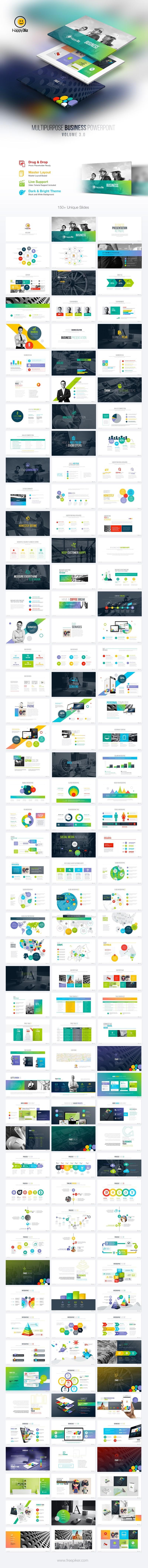 HappyBiz Multipurpose Business PowerPoint