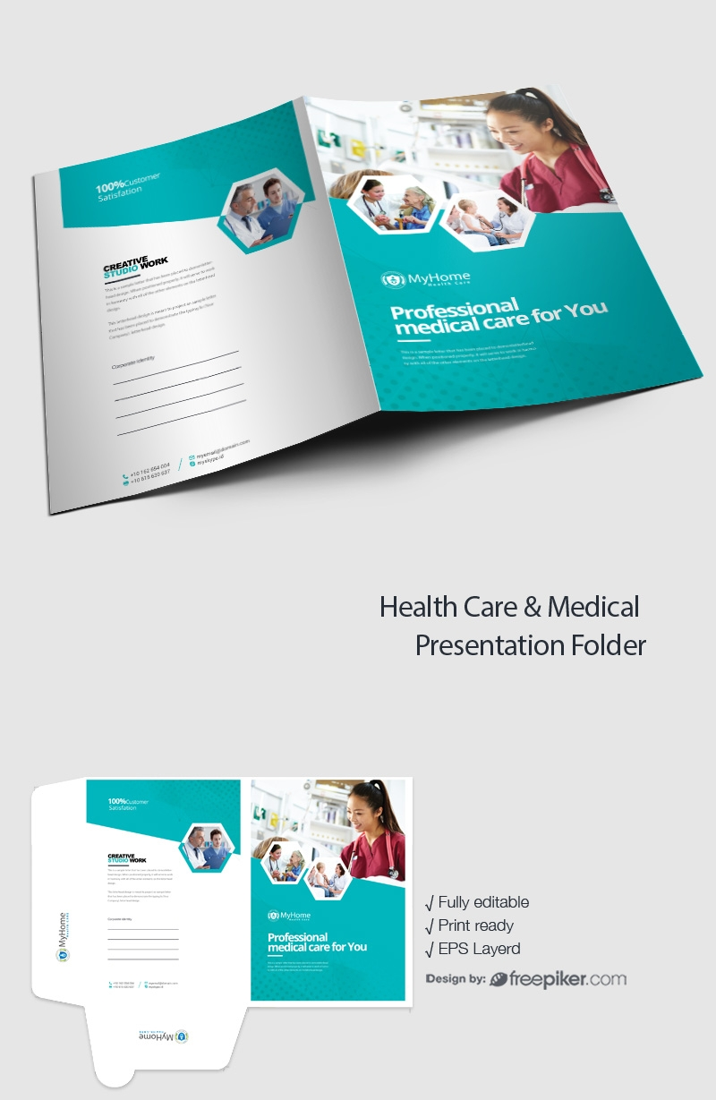 freepiker health care medical presentation folder