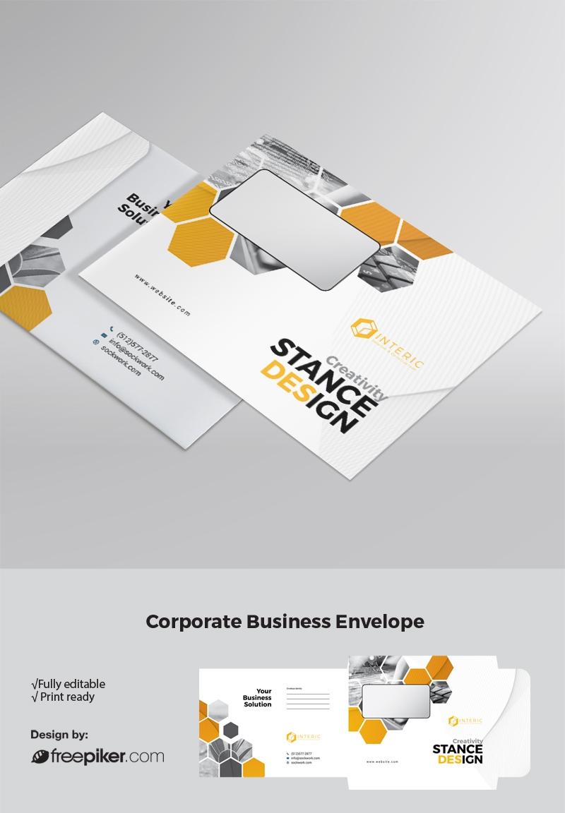 Hexagon B5_Envelope With Orange accent