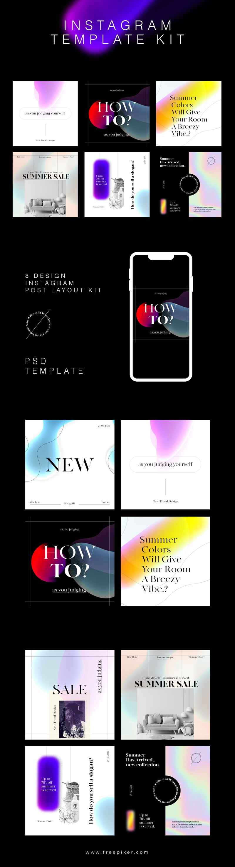 Instagram Booster Posting Kit Banners