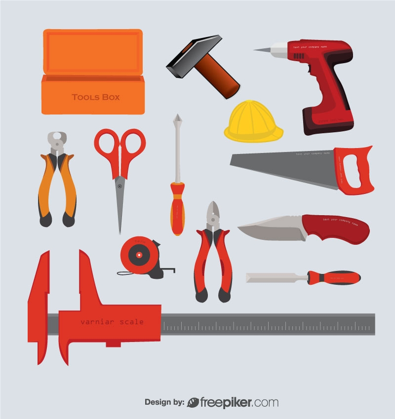 Instruments Hand Tools Vector Design