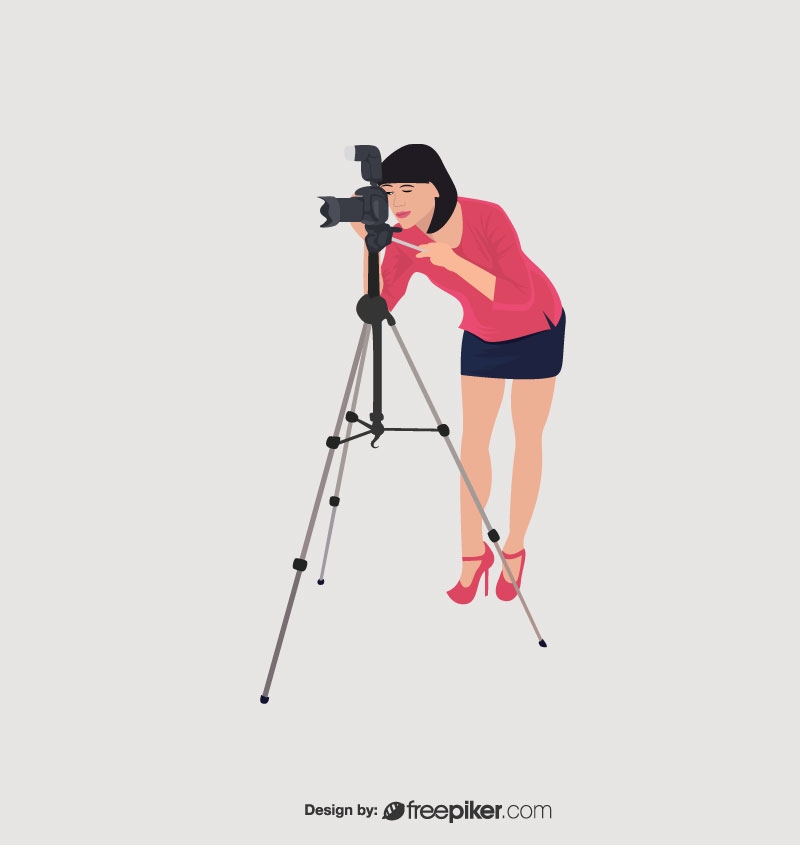 freepiker lady photographer vector freepiker lady photographer vector