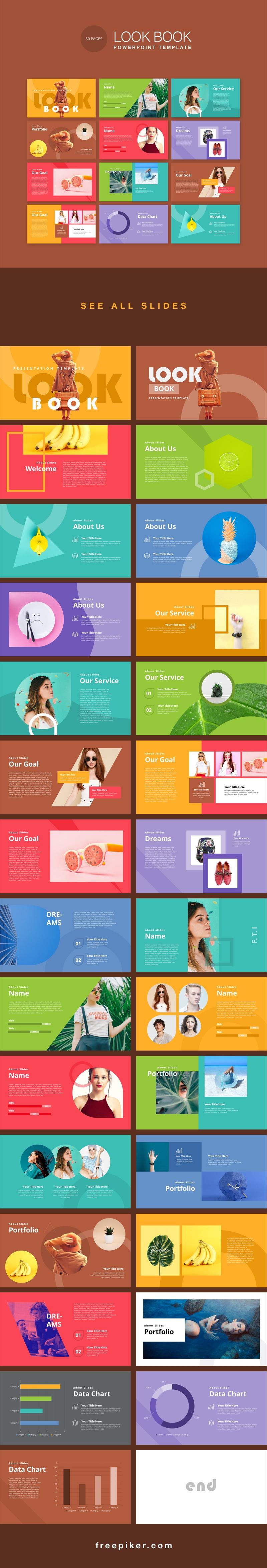 LookBook Pastel PowerPoint Template
