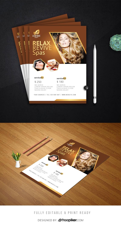 Luxury Beauty Salon Flyer
