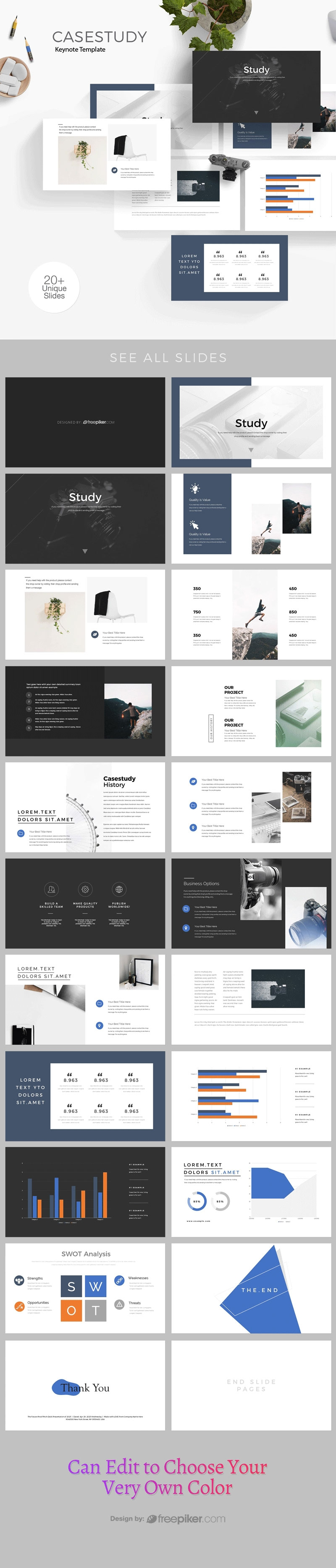 Minimal Clean Case Study Keynote Template