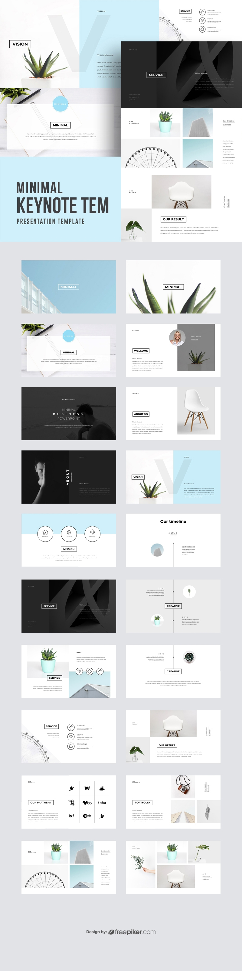 freepiker minimal keynote template. Black Bedroom Furniture Sets. Home Design Ideas