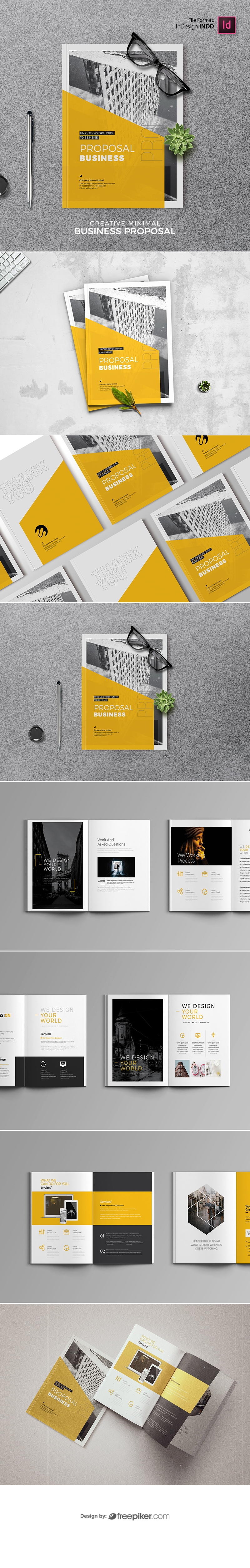 Minimal Project Proposal Yellow Accent