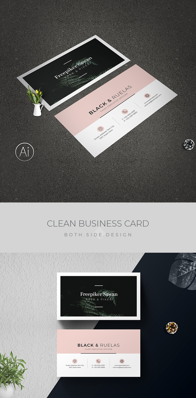 Minimal Sawan Business Card