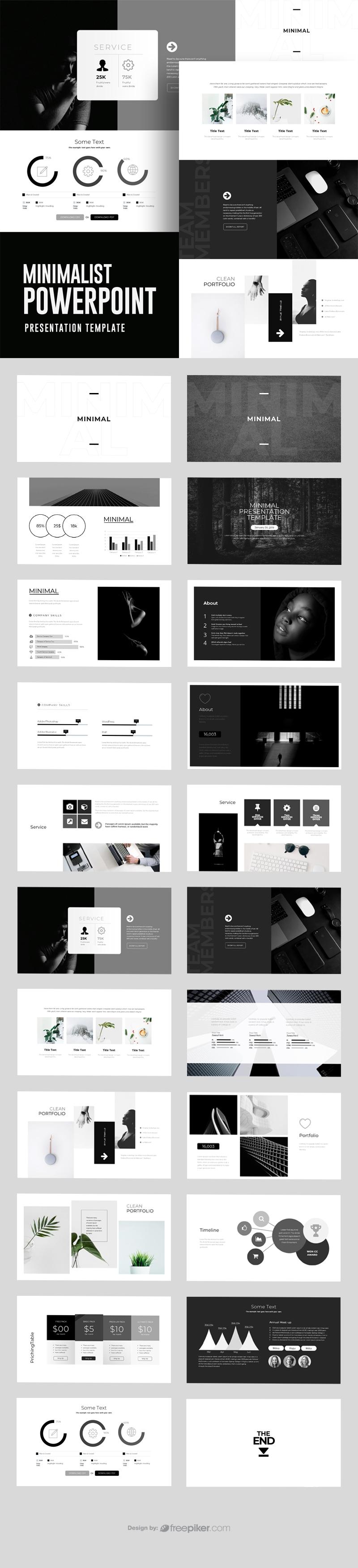 Minimalist Black White Powerpoint Template
