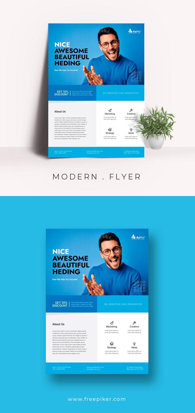 Modern Blue Business Flyer