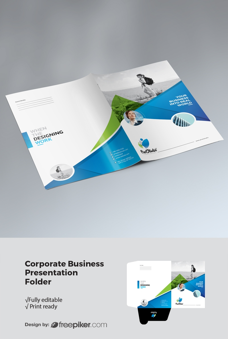 Modern Corporate Presentation Folder Template