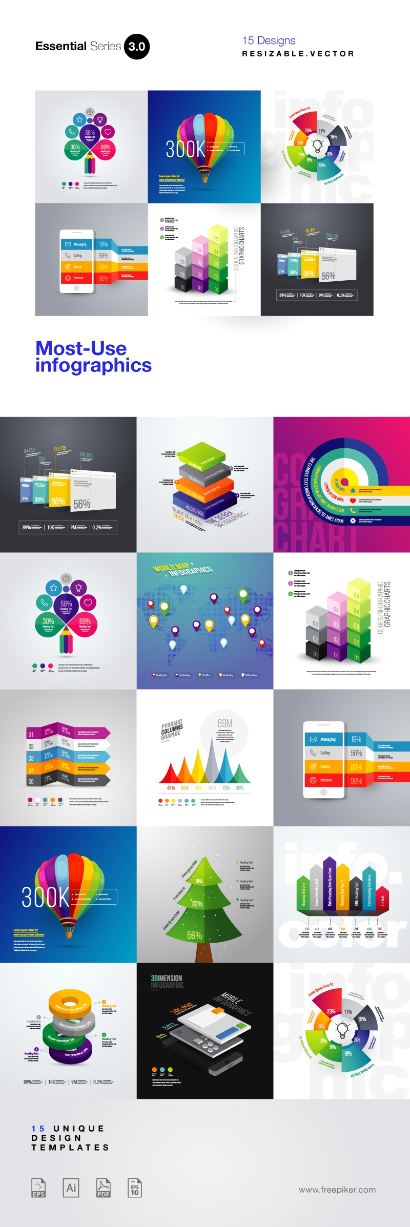 Most Use Essential Infographics Set III