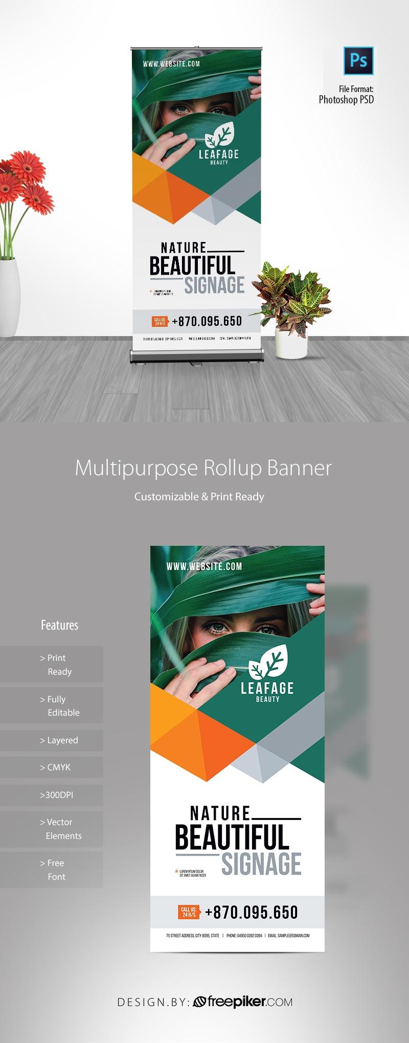 Multipurpose Advertisement Rollup Banner