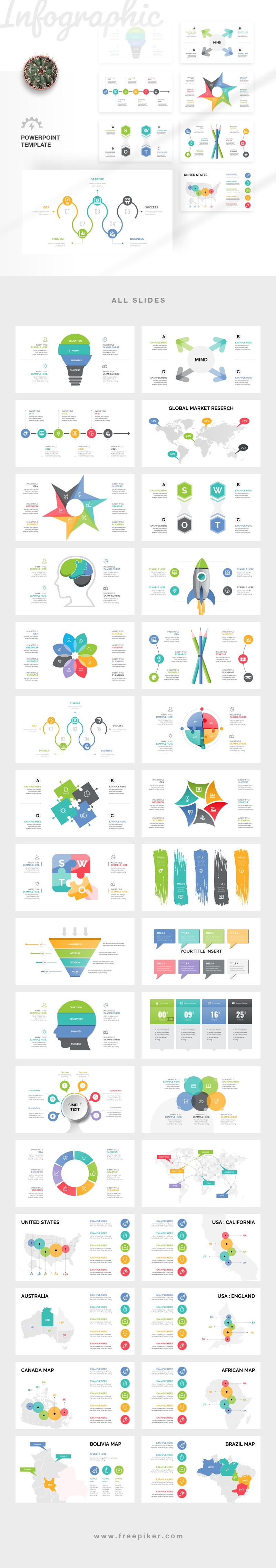 My First Infographic PowerPoint Template