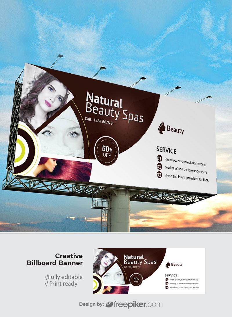 Natural Beauty Spa Billboard Banner