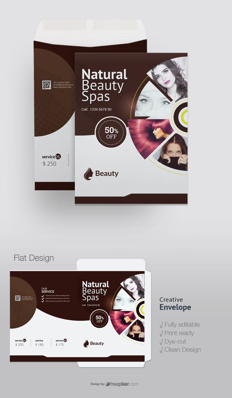 Natural Beauty Spa Catalog Envelope