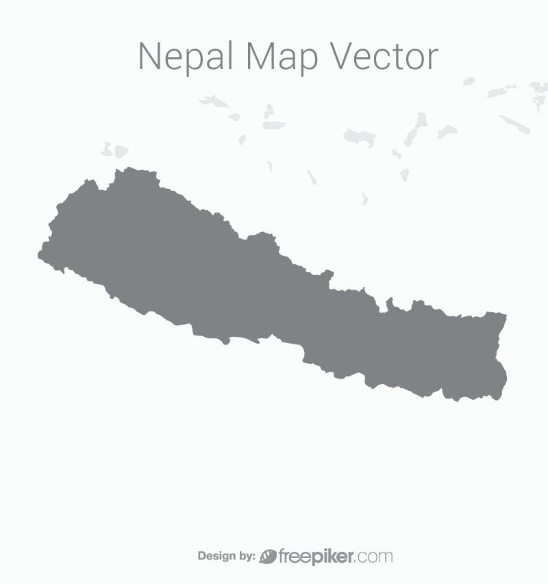 Nepal Map with Dark Background