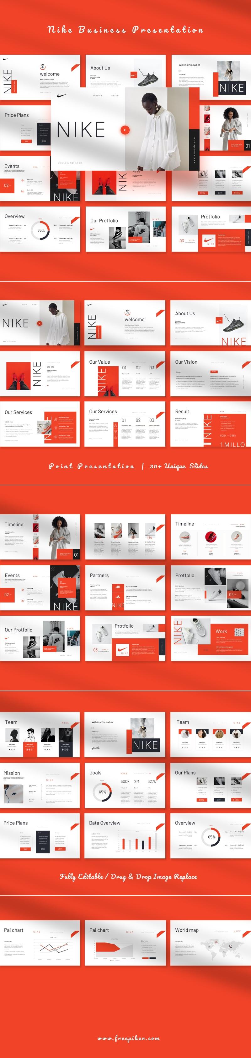 NIKE Business Google Slide Presentation Template