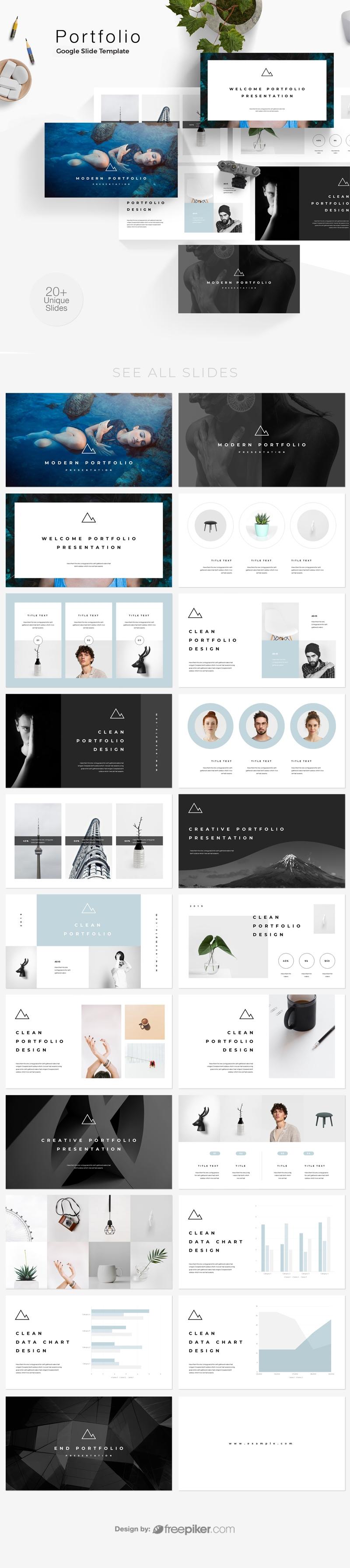 freepiker portfolio photography google slide template. Black Bedroom Furniture Sets. Home Design Ideas