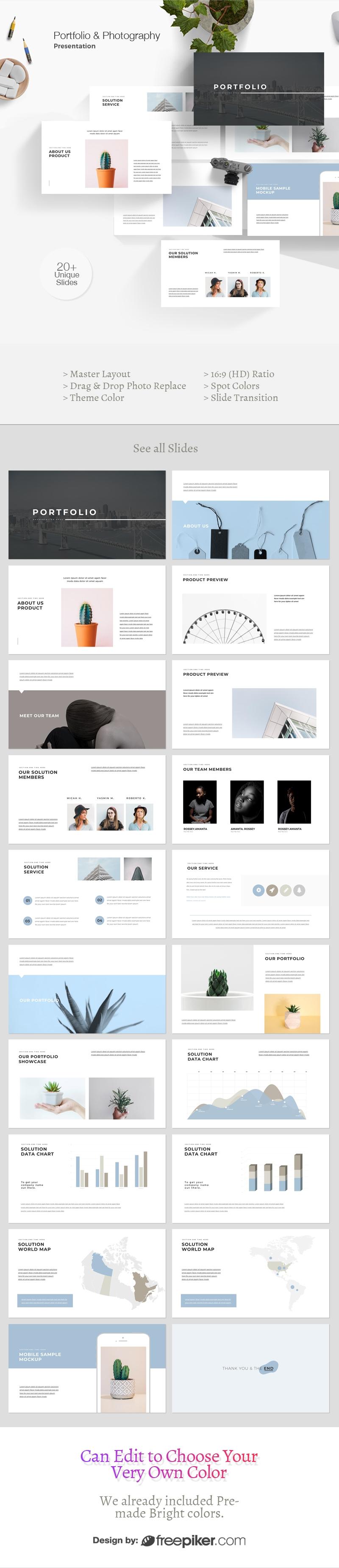 Portfolio & Photography Powerpoint Template